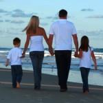Roy Nadine and kids on beach